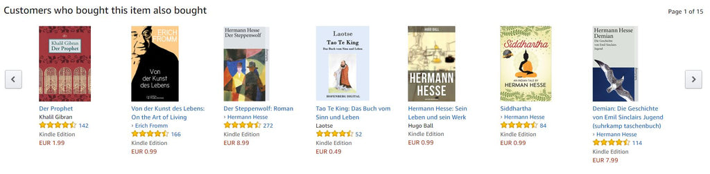 Cross-selling Amazon - inara schreibt