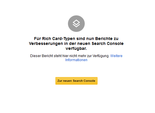Rich Cards - Änderungen in der Google Search Console