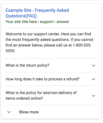 FAQs in den SERPs
