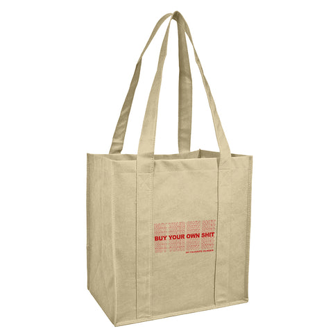 Buy Your Own Shit Reusable Grocery Bag