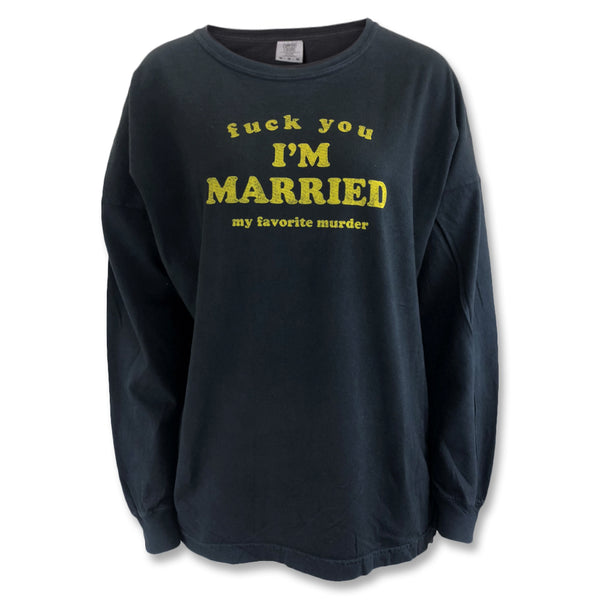 I'm Married Drop Shoulder Long Sleeve Tee