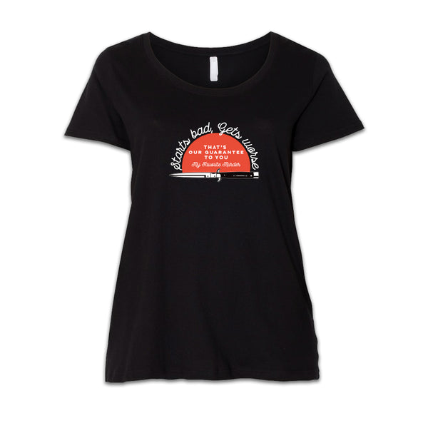 Starts Bad, Gets Worse Women's Plus Tee