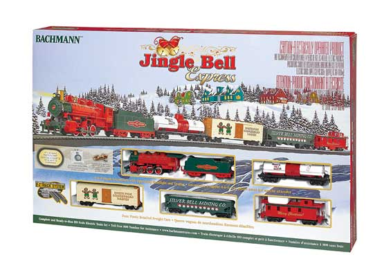 Bachmann - Jingle Bell Express Train Set - HO Scale (00724) - the-pennsy-station-llc