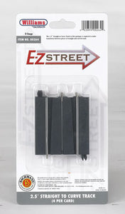 "Bachmann - E-Z Street -2.5"" Straight To Curve Track (00264) - the-pennsy-station-llc"