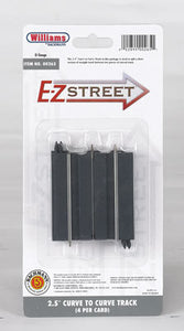 "Bachmann - E-Z Street -2.5"" Straight To Curve Track (00265) - the-pennsy-station-llc"