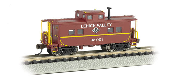 Bachmann - Rolling Stock - Lehigh Valley Steel Caboose - N Scale (16858) - the-pennsy-station-llc
