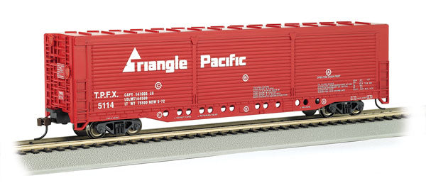 Bachmann - Rolling Stock - Triangle Pacific Box Car - HO Scale (18138) - the-pennsy-station-llc