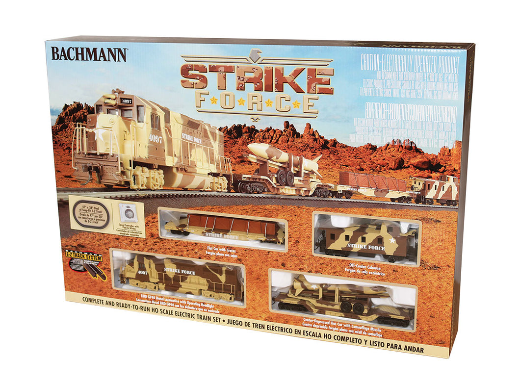 Bachmann - Strike Force Military Train Set - HO Scale (00752) - the-pennsy-station-llc