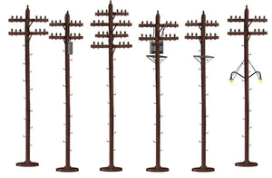 Lionel - Scale Telephone Poles w/ Transformers - O Scale (6-37939) - the-pennsy-station-llc