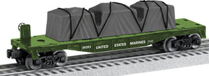 Lionel - USA Marines Flat Car - O Scale (6-39393) - the-pennsy-station-llc