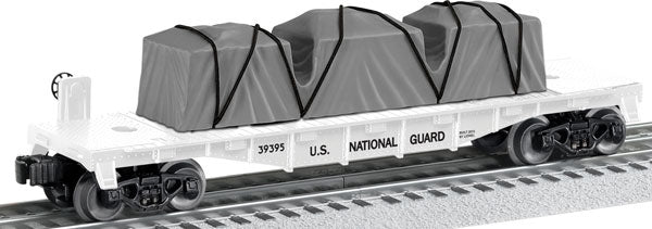 Lionel - USA National Guard Flat Car - O Scale (6-39395) - the-pennsy-station-llc