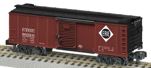 Lionel A/F - Erie Boxcar w/ Rail Sounds #90310 - S Scale (6-48871) - the-pennsy-station-llc