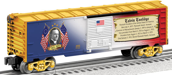Lionel - USA President Calvin Coolidge Boxcar - O Scale (6-25932) - the-pennsy-station-llc
