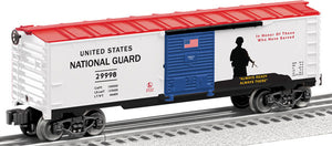 Lionel - USA National Guard Boxcar - O Scale (6-29998) - the-pennsy-station-llc