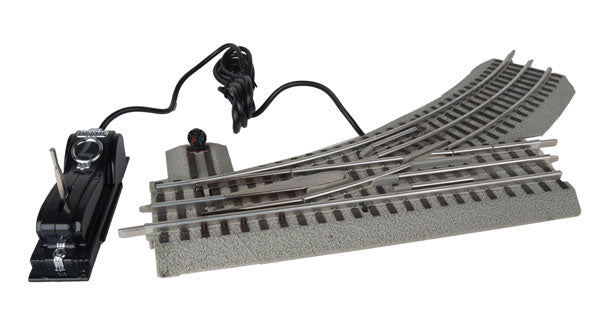 Lionel - Fastrack O36 Left-Hand R/C Switch - O Scale (6-81947) - the-pennsy-station-llc