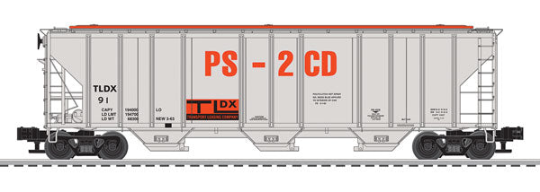 Lionel - Hopper Car - TLDX Demonstrator PS-2CD #91 - O Scale (6-84128) - the-pennsy-station-llc