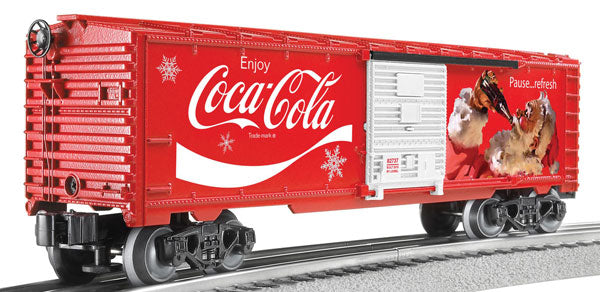 Lionel - Coca-Cola Santa Boxcar - O Scale (6-82737) - the-pennsy-station-llc
