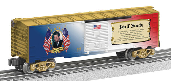 Lionel - USA President John F. Kennedy Boxcar - O Scale (6-82943) - the-pennsy-station-llc