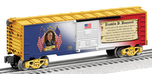 Lionel - USA President Franklin Roosevelt Boxcar - O Scale (6-82335) - the-pennsy-station-llc