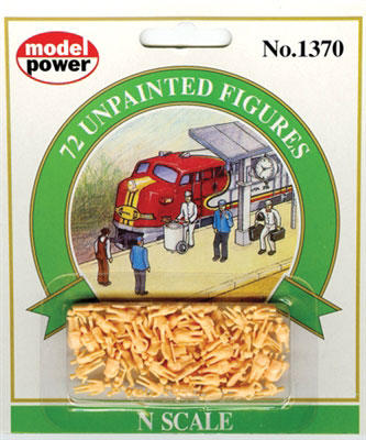 Model Power - 72 Unpainted Figures - N Scale (1370) - the-pennsy-station-llc
