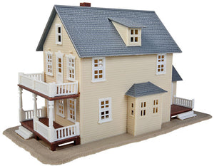 Walthers - Two-Story House Kit - HO Scale (931-901) - the-pennsy-station-llc