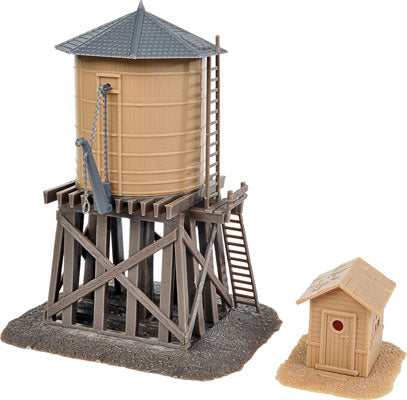 Walthers - Water Tower and Shanty - HO Scale (931-906) - the-pennsy-station-llc