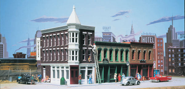 Walthers - Cornerstone Series - Merchant's Row II Kit - HO Scale (933-3029) - the-pennsy-station-llc