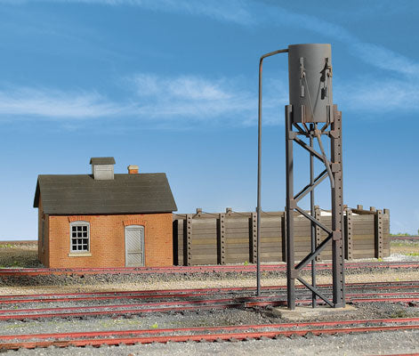Walthers - Cornerstone Series - Sanding Towers & Drying Bin Kit - HO Scale (933-3182) - the-pennsy-station-llc