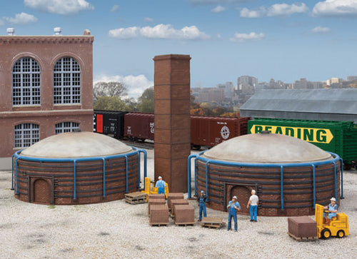 Walthers - Cornerstone Series - Brick Kilns - HO Scale (933-4100) - the-pennsy-station-llc