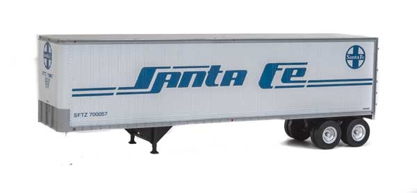Walthers - SceneMaster - 40' Trailer 2-Pack Santa Fe - HO Scale (949-2501) - the-pennsy-station-llc