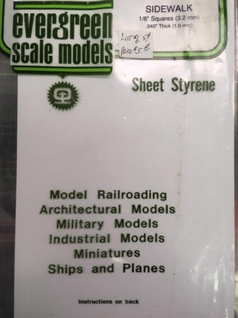 Evergreen Scale Models - Sheet Styrene - Sidewalk - All Scales (4514) - the-pennsy-station-llc