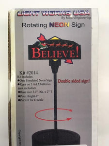 Miller Engineering - Animated Billboards - Believe Rotating Kit (2014) - the-pennsy-station-llc