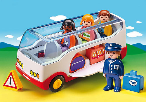 Playmobil - 1.2.3 - Airport Shuttle Bus (6773)