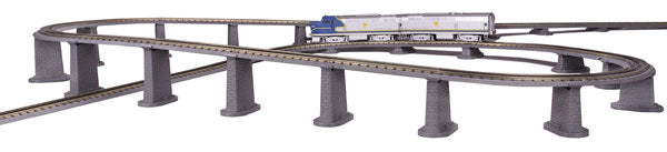 MTH/Railking - Realtrax 24-Piece Graduated Tressle Set (40-1033) - the-pennsy-station-llc