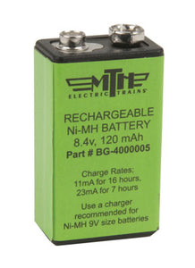 MTH/Railking - Rechargeable Proto-Sound 8.4v Battery - O Scale (50-1008) - the-pennsy-station-llc