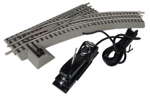Lionel - Fastrack O36 Right-Hand R/C Switch - O Scale (6-81946) - the-pennsy-station-llc
