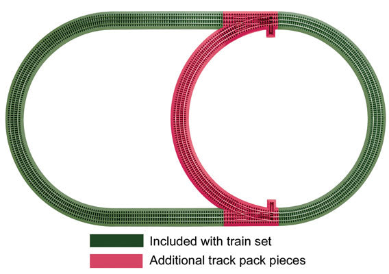 Lionel - Fastrack Inner Passing Loop Track Pack - O Scale (6-12028) - the-pennsy-station-llc