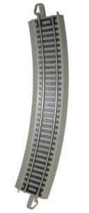 "Bachmann - E-Z Track - 18"" Radius Curved Track - Gray - HO Scale (44580) - the-pennsy-station-llc"