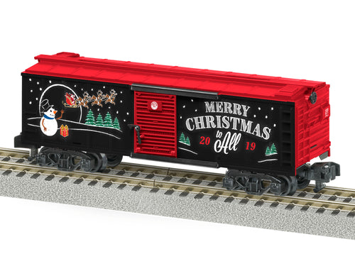 Lionel A/F - 2019 Christmas Boxcar - S Scale (1919320) - the-pennsy-station-llc