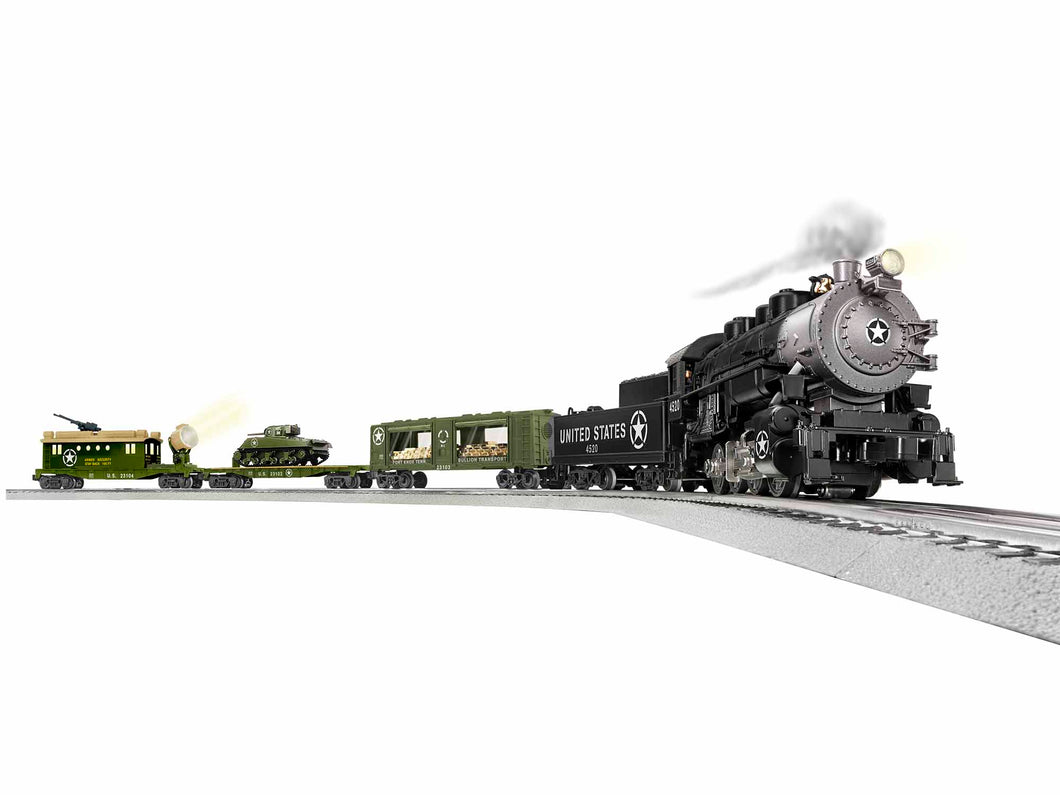 Lionel - Lionchief U.S. Steam Military Set w/ BT - O Scale (1923100) - the-pennsy-station-llc