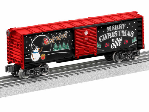 Lionel - 2019 Christmas Boxcar - O Scale (1928490) - the-pennsy-station-llc