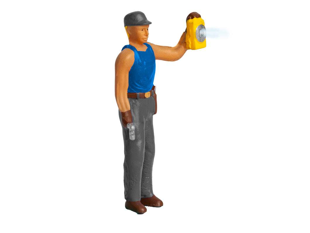 Lionel - RR Worker With Lamp Lighted Figure - O Scale (1930330) - the-pennsy-station-llc