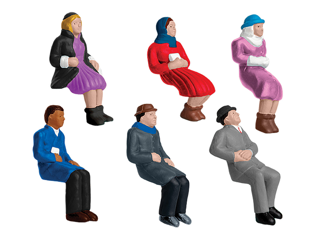 Lionel - Sitting People 6-Pack - O Scale (1930220) - the-pennsy-station-llc