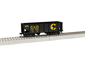 Lionel - Chessie #137802 2-Bay Hopper - HO Scale (1954020) - the-pennsy-station-llc