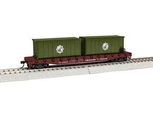 Lionel - Trailer Train #80220 Flat Car w/ Containers - HO Scale (1954220) - the-pennsy-station-llc