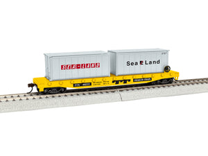 Lionel - Trailer Train #48231 Flat Car w/ Containers - HO Scale (1954230) - the-pennsy-station-llc