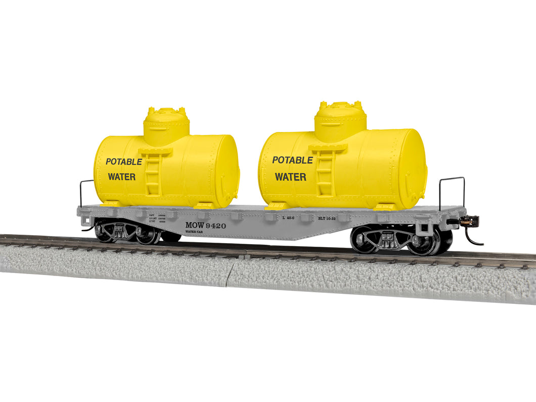 Lionel - Maintenance of Way Flat Car w/ Water Tanks - HO Scale (1954420) - the-pennsy-station-llc
