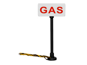 "Lionel - ""Gas"" Lighted Sign 2-Pack - HO Scale (1956200) - the-pennsy-station-llc"