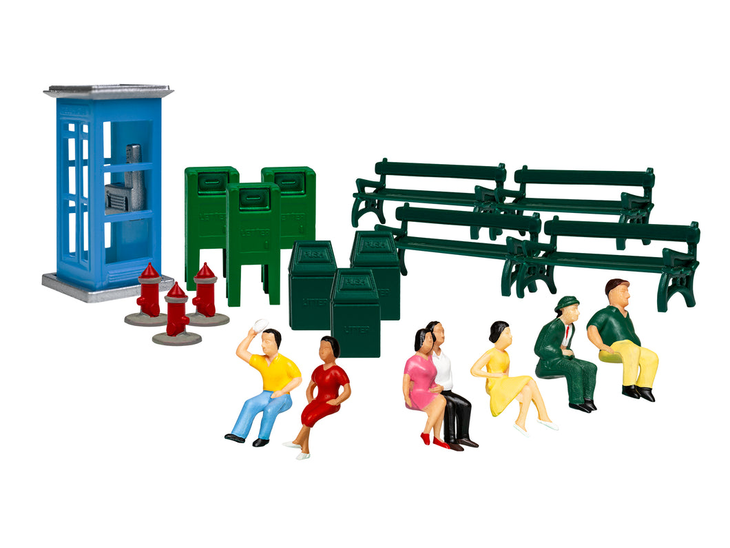 Lionel - Sidewalk Scenes - HO Scale (1957260) - the-pennsy-station-llc