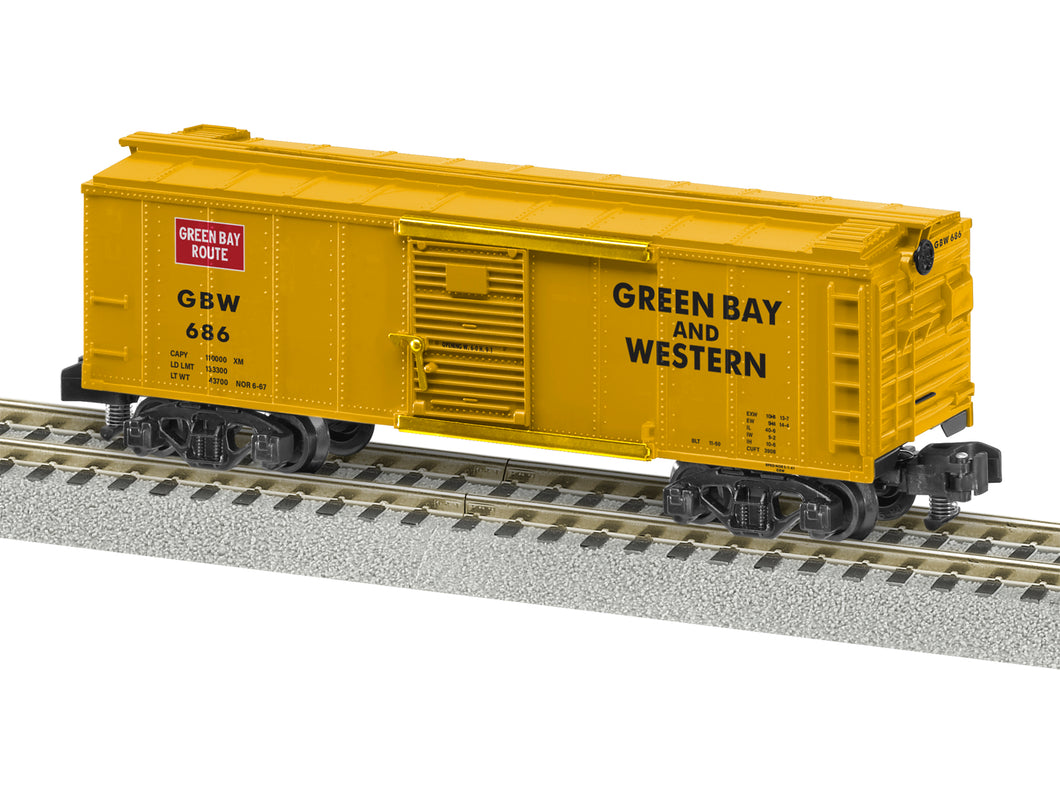 Lionel A/F - Green Bay & Western #686 Boxcar - S Scale (2019081) - the-pennsy-station-llc